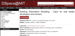 Building Information Modeling: value for real estate developers and owners